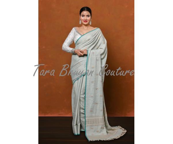 ICE BLUE- Ahimsa (Eri) Silk saree