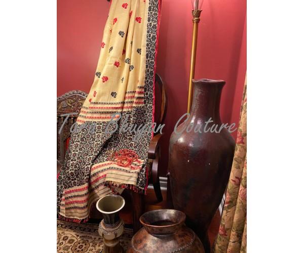 NIRVANA- Muga-coloured Eri Ahimsa Silk Saree
